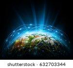 best internet concept of global ... | Shutterstock . vector #632703344