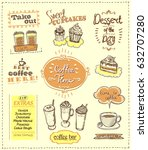 coffee time designs set for... | Shutterstock .eps vector #632707280