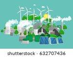 renewable ecology energy icons  ... | Shutterstock .eps vector #632707436