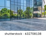 modern building and empty... | Shutterstock . vector #632708138