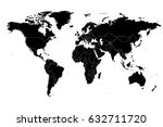 detailed vector world map high... | Shutterstock . vector #632711720