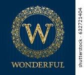 golden logo template for... | Shutterstock .eps vector #632721404