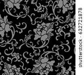 antique seamless background... | Shutterstock .eps vector #632721878