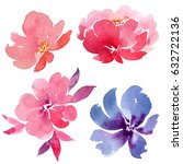 watercolor illustration with... | Shutterstock . vector #632722136