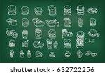 fast food menu  hamburger... | Shutterstock .eps vector #632722256