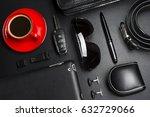 man accessories in business...   Shutterstock . vector #632729066