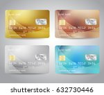realistic detailed credit cards ... | Shutterstock .eps vector #632730446