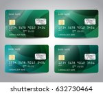 realistic detailed credit cards ... | Shutterstock .eps vector #632730464