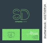 s d letters logo with business...   Shutterstock .eps vector #632733914