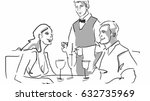 couple  romantic dinner in the... | Shutterstock . vector #632735969