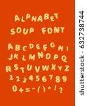 alphabet soup font  latin...   Shutterstock .eps vector #632738744