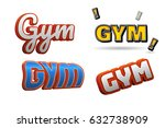 gym text for title or headline. ...   Shutterstock . vector #632738909