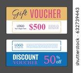 gift voucher template. can be... | Shutterstock .eps vector #632739443