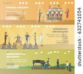 vector set of music horizontal... | Shutterstock .eps vector #632741054