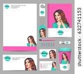 vector business corporate mock... | Shutterstock .eps vector #632741153