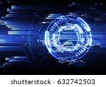 technological abstract modern... | Shutterstock .eps vector #632742503