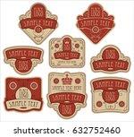 set of vector ornate labels... | Shutterstock .eps vector #632752460