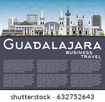 guadalajara skyline with gray... | Shutterstock .eps vector #632752643
