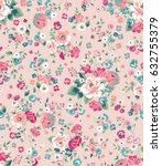 trendy seamless floral pattern... | Shutterstock .eps vector #632755379