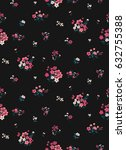 seamless ditsy floral pattern... | Shutterstock .eps vector #632755388