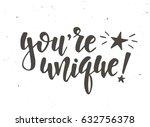 you are unique. conceptual... | Shutterstock .eps vector #632756378