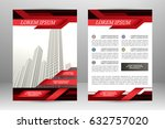 vector flyer template design.... | Shutterstock .eps vector #632757020