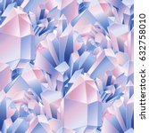 graphic crystals in pastel... | Shutterstock .eps vector #632758010