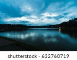 dramatic sky over lake   Shutterstock . vector #632760719