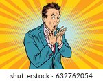 businessman scared  shock... | Shutterstock .eps vector #632762054