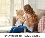 young pregnant mother and...   Shutterstock . vector #632762363