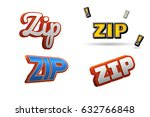 zip text for title or headline. ... | Shutterstock . vector #632766848