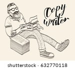 copywriter  blogger  journalist.... | Shutterstock .eps vector #632770118