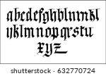 new gothic font | Shutterstock .eps vector #632770724
