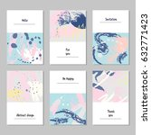 set of universal cards and... | Shutterstock .eps vector #632771423