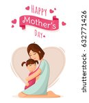mother and daughter. mother s... | Shutterstock .eps vector #632771426