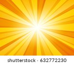 Shiny Sun Background. Vector...