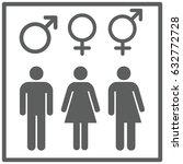 all gender symbol set gray | Shutterstock .eps vector #632772728