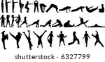 32 vector silhouettes of people ...
