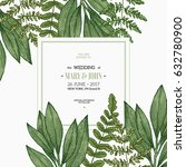 wild leaves design template.... | Shutterstock .eps vector #632780900
