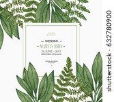 wild leaves design template.... | Shutterstock .eps vector #632780900