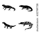 lizards vector icons   Shutterstock .eps vector #632789738