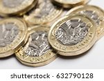 new one pound british sterling... | Shutterstock . vector #632790128