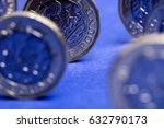 new one pound british sterling... | Shutterstock . vector #632790173