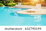 blue swimming pool in hotel | Shutterstock . vector #632790194