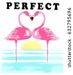 vintage tropical graphic.... | Shutterstock .eps vector #632795696