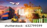logistics and transportation of ... | Shutterstock . vector #632799599