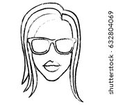 woman with sunglasses icon | Shutterstock .eps vector #632804069