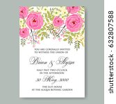 Burgundy Rose Wedding Invitation
