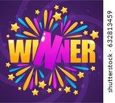 winner  congratulation bright... | Shutterstock .eps vector #632813459
