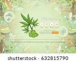 medicinal cannabis recreational ... | Shutterstock .eps vector #632815790